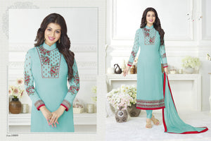 Stunning sky blue  color Salwar Suit