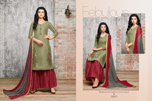 Delightful mehandi color Salwar Suit