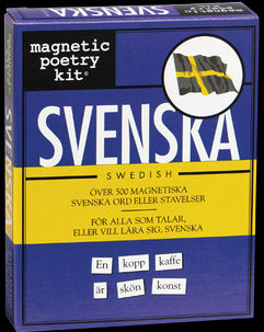 Swedish Magnetic Poetry