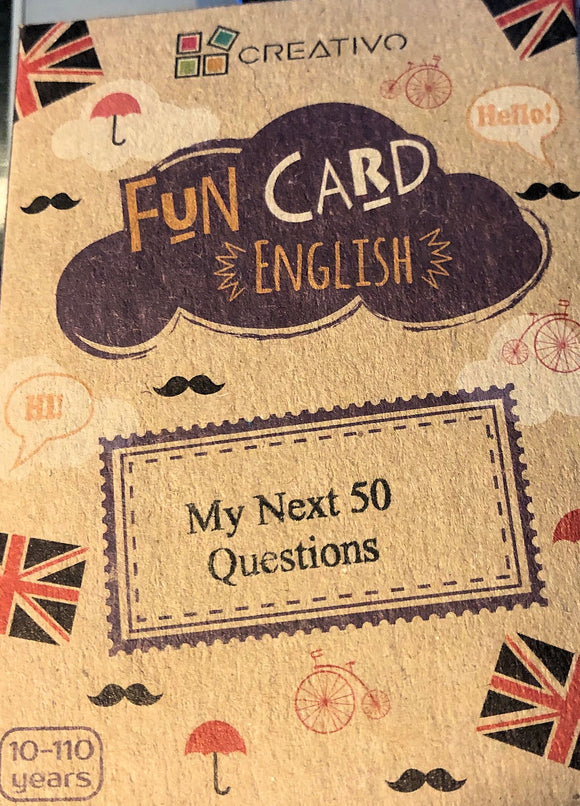 My Next 50 Questions