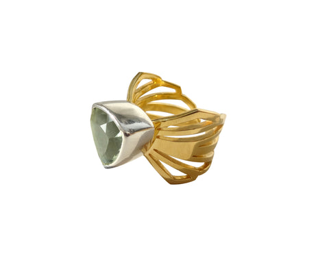 Adjustable Chunky Folded Wing Ring