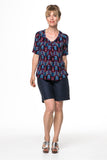 Vesta V Pleat Top - Feather was $188 now $168