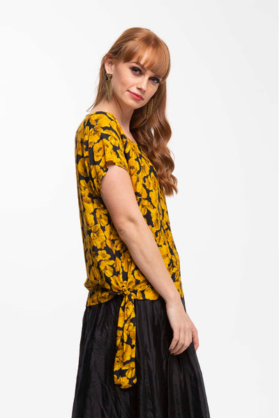 Juna Sash  Top - Gold Poppy