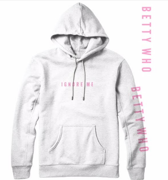 Ignore Me White with Pink Hoodie (limited sizing)