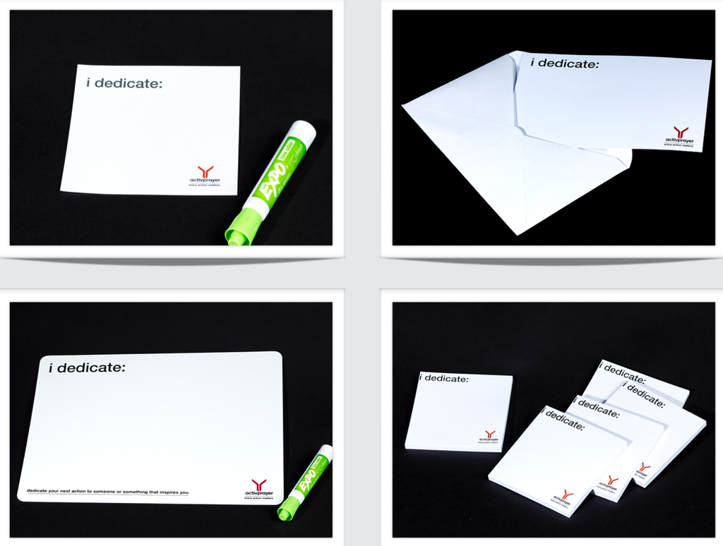 Pro Toolkit - iDedicate Post-its, Postcards, Wristband, and Whiteboard