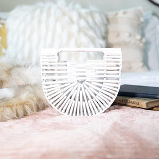 Bamboo Clutch (Small) - Blanched