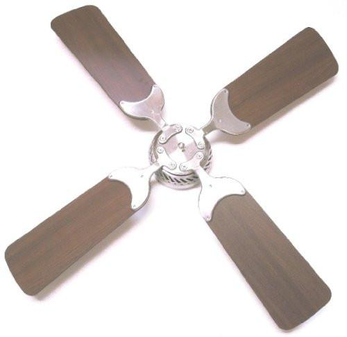 Global Electric 36-inch Non-Brush DC12V Ceiling Fan, Brushed Nickel with Wall Control, Light Cherry / Cherry Reversible Blades  The Cabin Depot- The Cabin Depot Off-Grid Off Grid Living Solutions Cabin Cottage Camp Solar Panel Water Heater Hunting Fishing Boats RVs Outdoors