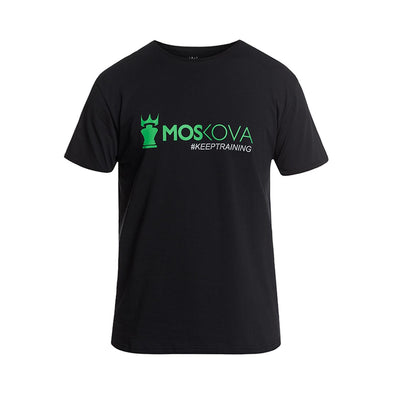 MOSKOVA / Keep Training Corpo Script Tシャツ Black/Green
