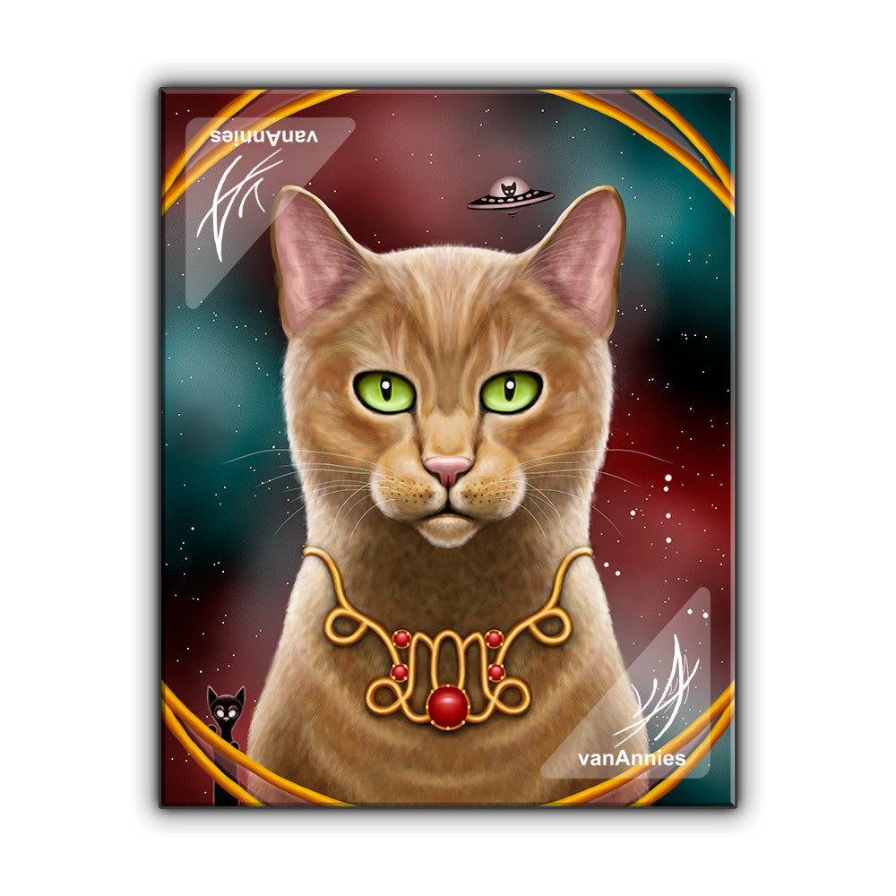 Zodiac Cat Capricorn with January Birthstone Wrapped Canvas