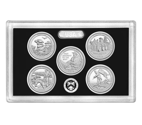 2016-S Silver America the Beautiful Quarter 5-coin Proof Set