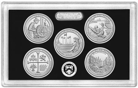 2019-S Silver America the Beautiful Quarter 5-coin Proof Set