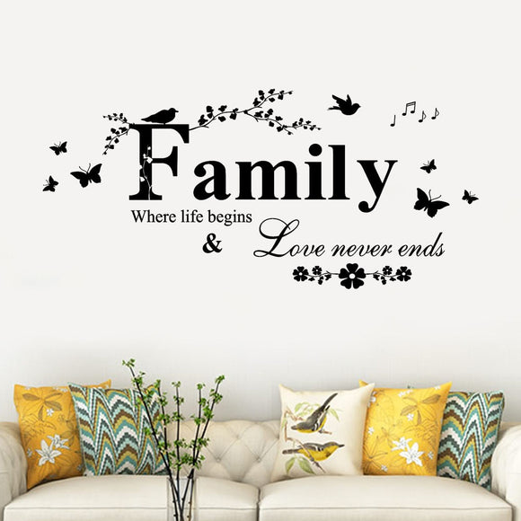 3d wall stickers Family Removable Art