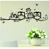 1Pc Wall Stickers Owl Family Kid Room Decorations