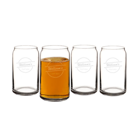 16 oz. Home Brew Can Glasses (Set of 4)
