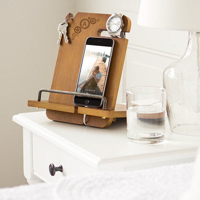 Personalized Steampunk Wooden Docking Station