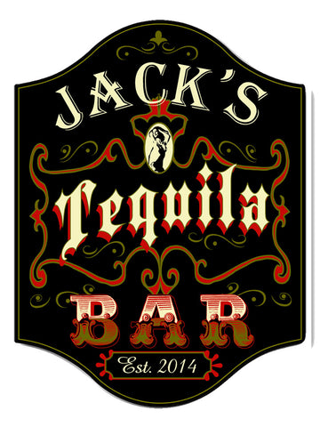 Handcrafted Tequila Bar Sign