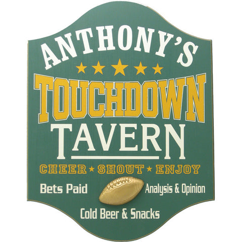 Handcrafted Man Cave Sign - Touchdown Tavern