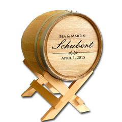 5 Gallon Wedding Barrel - Last name