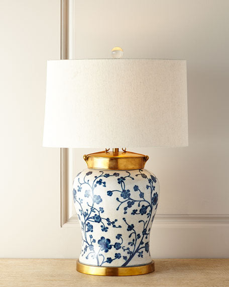 Floral Chinoiserie Lamp - TropicaZona