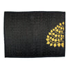 "Woven Reed Placemats, Approx. 12"" x 16"", 4-Pack, Gold Bodhi Tree on Black - TropicaZona"