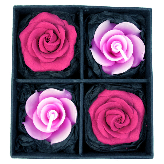 Rose Incense & Candle Gift Set, Pink - Great for Space Clearing (Clearing & Revitalizing Energies in Buildings) - TropicaZona