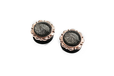 small round roségold Dust Plugs #749