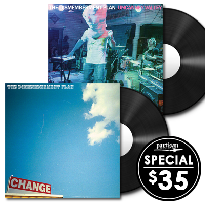 The Dismemberment Plan 'Change' + 'Uncanney Valley' LP Bundle