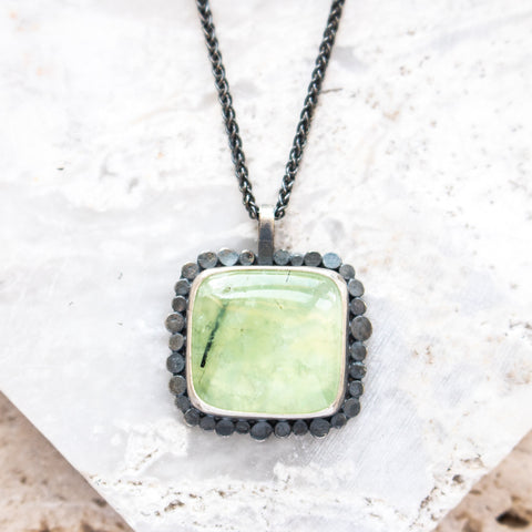 Prehnite Galaxy Halo Necklace