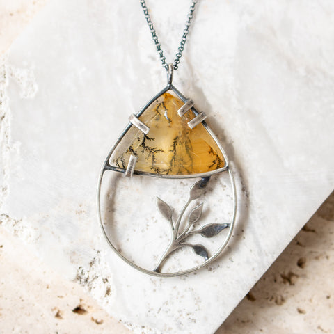 Dendritic Agate Vine Necklace