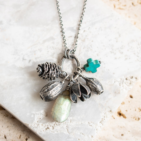 Labradorite Forage Charm Necklace