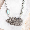 Turquoise & Chalcedony Imprint Necklace