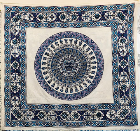 Purple Blue Mandala Queen Tapestry