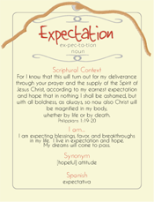 Expectation Post Card