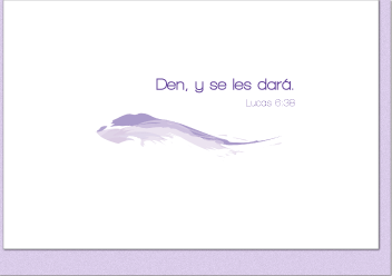 Den, y se les dará (Give and It Will Be Given Note Card - Spanish Version)