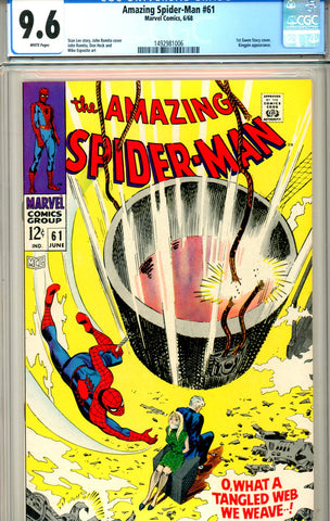 Amazing Spider-Man #061 CGC graded 9.6 1st Gwen Stacey SOLD!