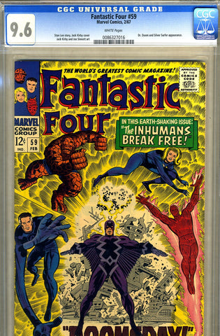 Fantastic Four #59   CGC graded 9.6 - white pages - SOLD