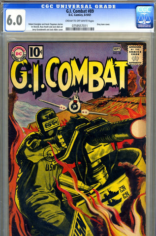 G.I. Combat #089   CGC graded 6.0 third Haunted Tank SOLD!