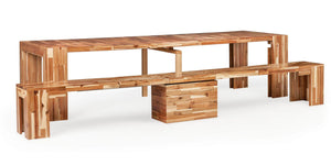 Transformer Dining Set + Natural Acacia