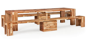 Transformer Ultimate Dining Set + Natural Acacia