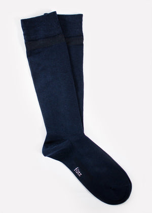 Cotton Over the Calf - Navy thumbnail