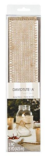 Darice Dt10911 David Tutera Open Weave Jute Ribbon, 5-Yard