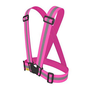 Tuvizo Pink Reflective Vest Provides High Visibility Day & Night Easily Adjustable & Lightweight