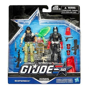 G.I. Joe, 50Th Anniversary, Hunt For Cobra Commander Action Figure Set [Shipwreck Vs. Cobra Commander], 3.75 Inches