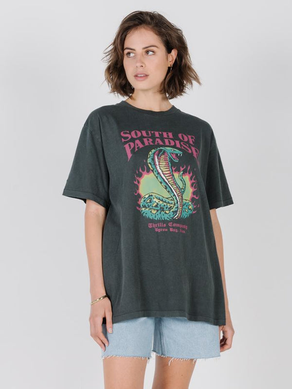 Flaming Cobra Merch Tee - Merch Black
