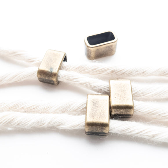 Solid Brass Rectangle Beads