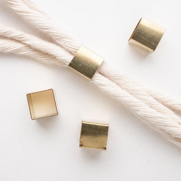 Solid Brass Cube Beads