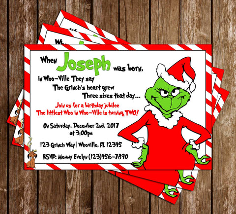 Christmas Birthday Party Invitations.Novel Concept Designs Customized Invitations