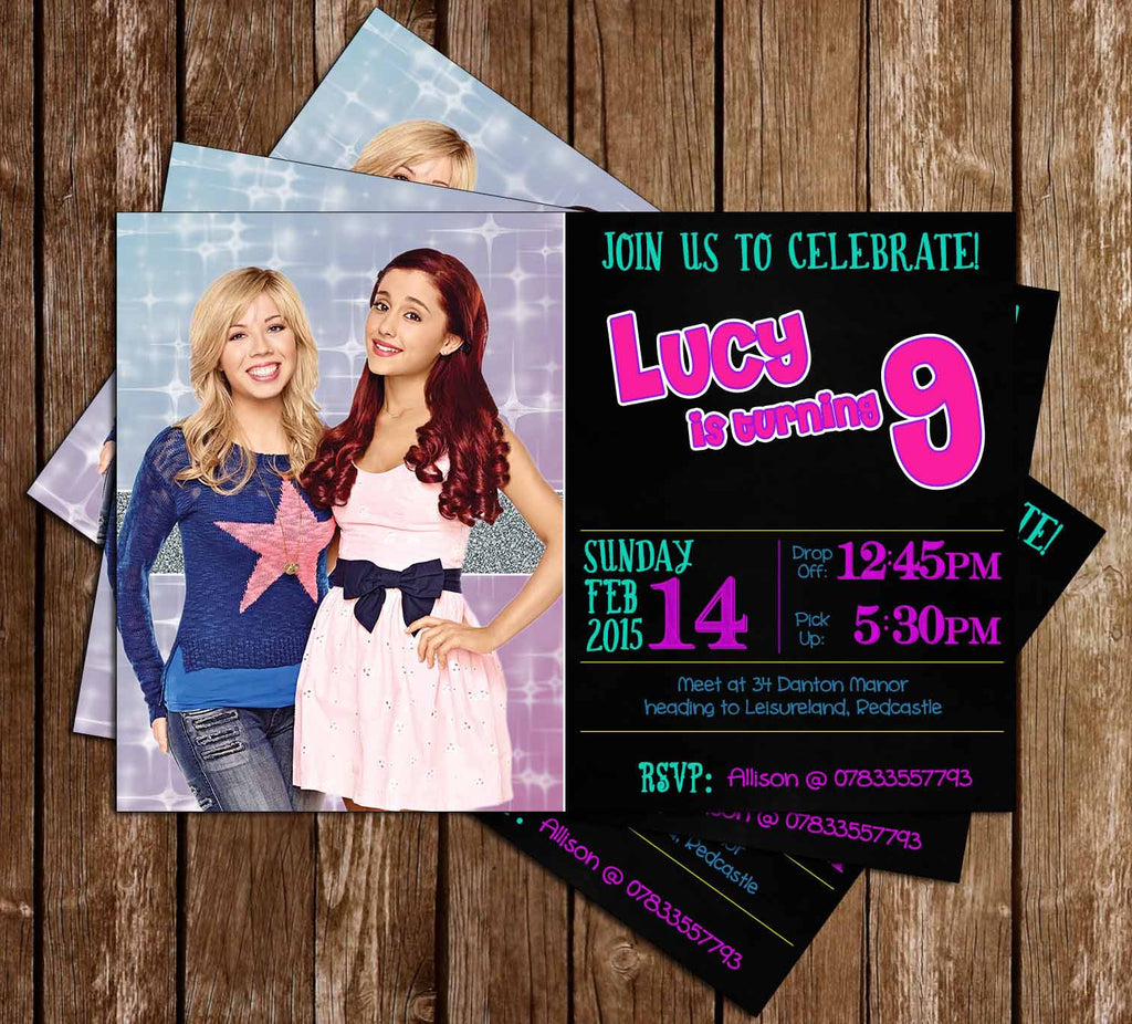 Sam and Cat Show Birthday Party Invitation