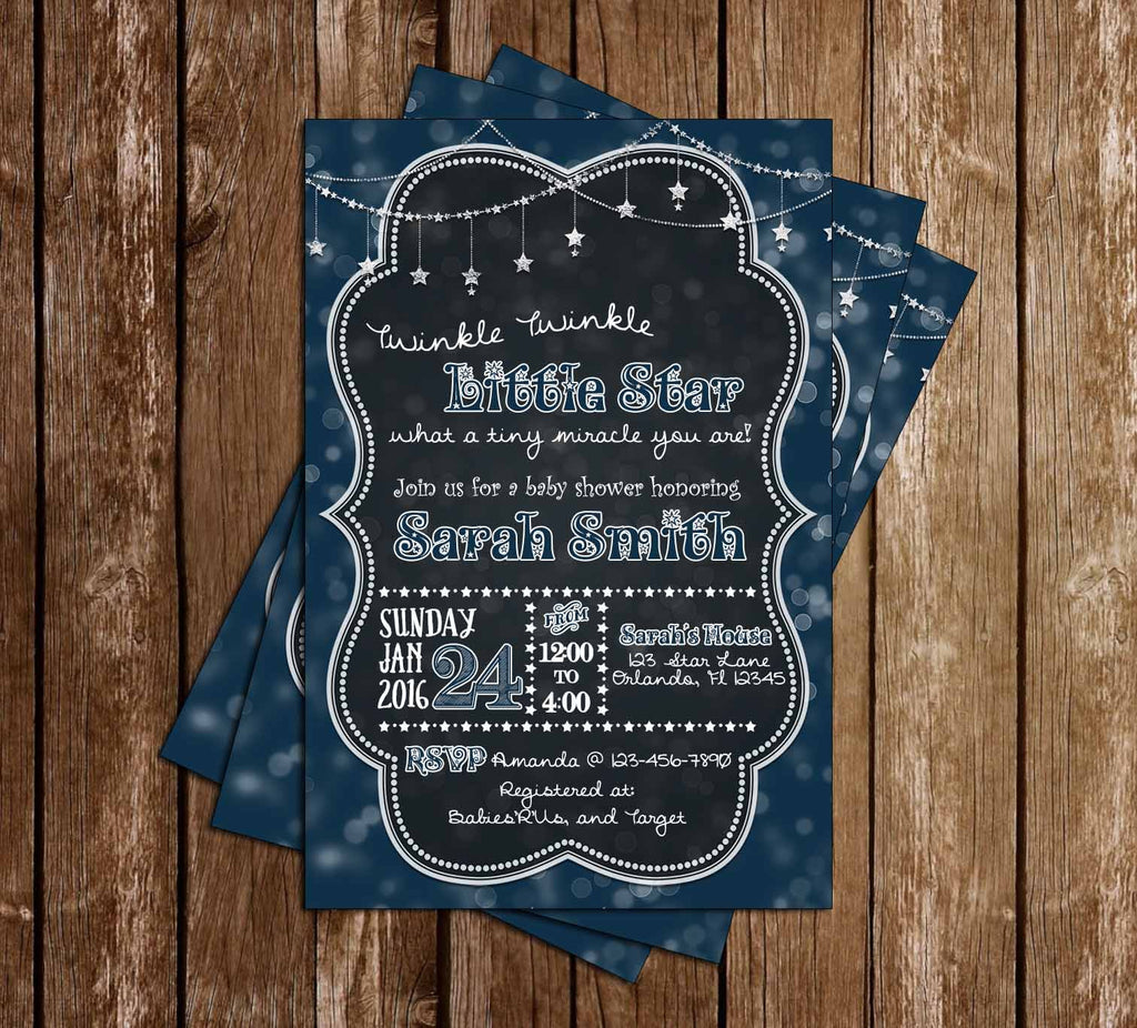 Twinkle Twinkle Little Star - How Loved - Baby Shower Invitation