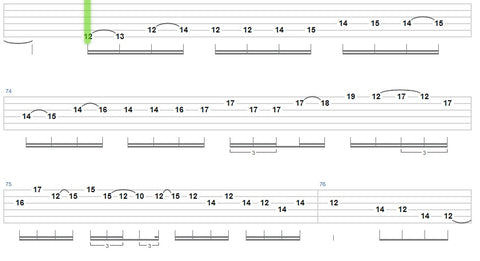heavy metal guitar scale
